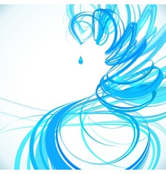 Blue abstract spiral background vector