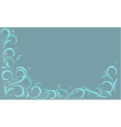 blue frosty pattern vector image