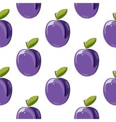 Blue plum seamless pattern vector image