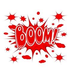 Boom explosion icon vector