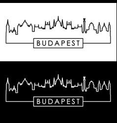 budapest skyline linear style editable file vector image