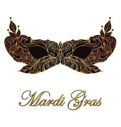 Carnival masquerade mask vector