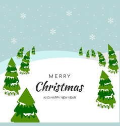 christmas and new year greeting card bright vector image