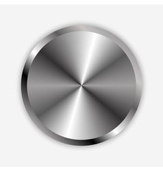 Chrome knob vector