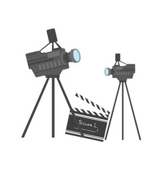 Cinematography equipment cinema and movie vector