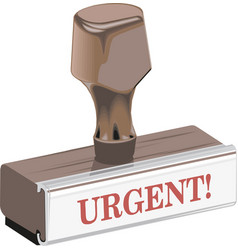 classic rubber stamp urgent vector image