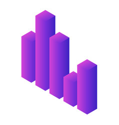 column graph icon isometric style vector image