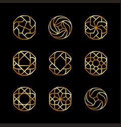 Creative concept design logo elegant luxury vector