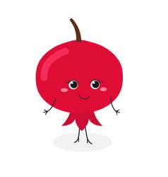 cute cartoon pomegranate vector image