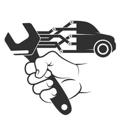 diagnosis and repair of cars vector image