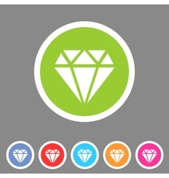 Diamond icon flat web sign symbol logo label vector image
