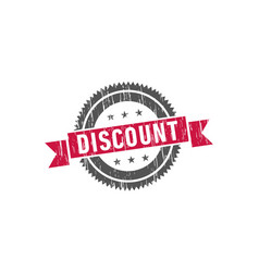 discount stamp sign seal logo vector image