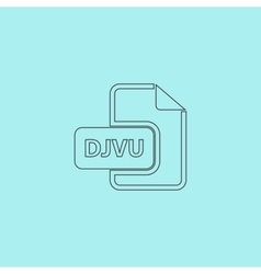 DJVU ebook file extension icon vector image