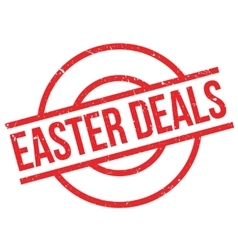 Easter Deals rubber stamp vector