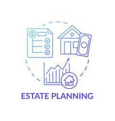 Estate planning concept icon vector