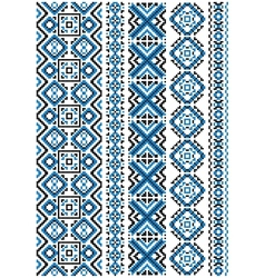 Ethnic embroidery seamless floral pattern vector