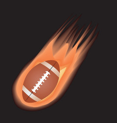Football-fire vector