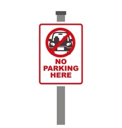forbidden sign of parking zone over white vector image