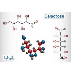 Galactose d-galactose milk sugar molecule vector