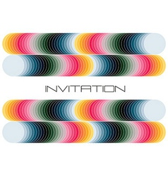 Geometric colorful invitation vector