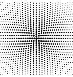 Geometric halftone round circle pattern vector