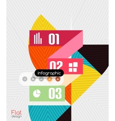 Geometric infographic stripes modern flat design vector image
