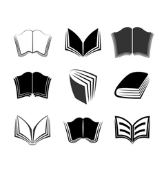 Graphical books icons vector