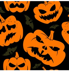 halloween seamless wallpaper vector image