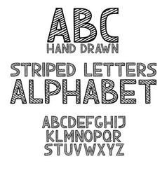 Hand draw doodle abc alphabet grunge type font vector