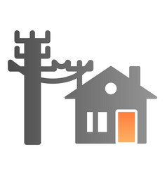 House electrification flat icon electricity and vector