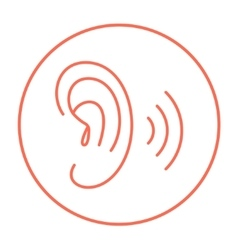 Human ear line icon vector