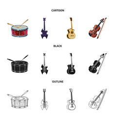 Isolated object of music and tune logo collection vector