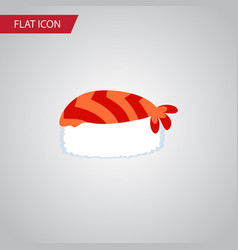 Isolated sushi flat icon gourmet element vector