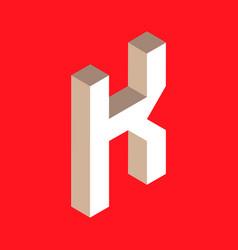 isometric letter k vector image