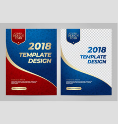 Layout template design for sport vector