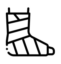 Leg foot gipsum bandage orthopedic icon vector