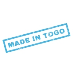 Made in togo rubber stamp vector