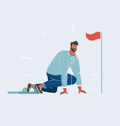 man in start position vector image