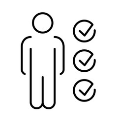 monochrome simple candidate exam icon vector image