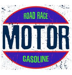 motorcycle logo tee graphic vector image