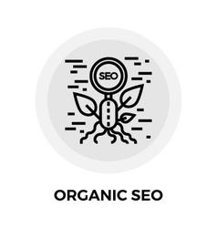 Organic SEO Line Icon vector image