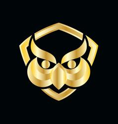 owl education logo vector image