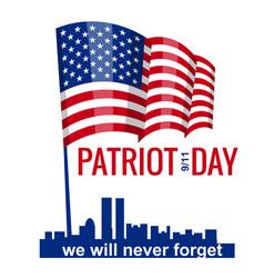 patriot day hand hold american flag patriot day vector image