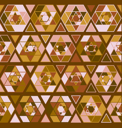 Pattern with judaism star vector