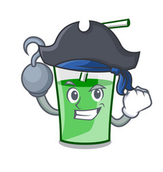 Pirate green smoothie character cartoon vector