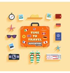 Planning summer vacation vector