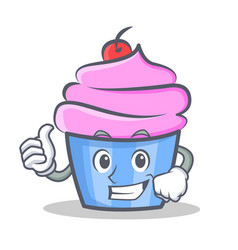 Proud cupcake character cartoon style vector