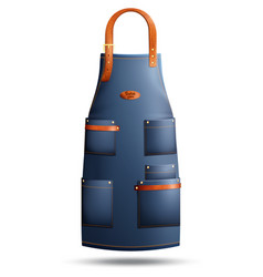 Realistic apron isolated vector