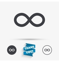 Repeat icon Loop symbol Infinity sign vector image