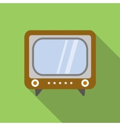 Retro television icon vector image